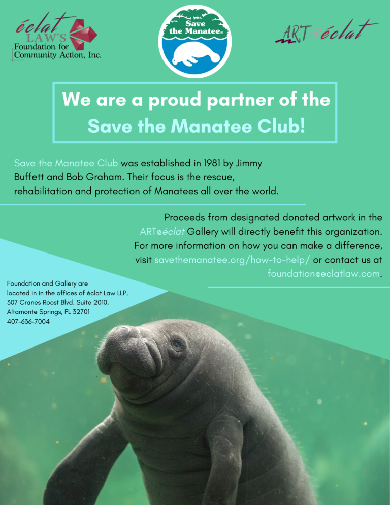 We are a proud partner of the Save the Manatee Club!